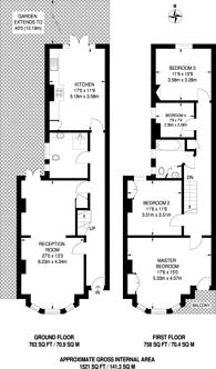 Large floorplan for Whitehall Gardens, Ealing Common, W3