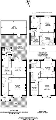 Large floorplan for Boston Gardens, Ealing, TW8