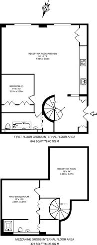 Large floorplan for Lofts on the Park, Victoria Park, E9