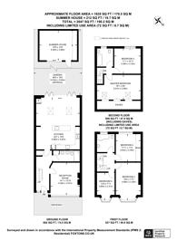 Large floorplan for Westway, Raynes Park, SW20