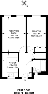 Large floorplan for Flintmill Crescent, Kidbrooke, SE3