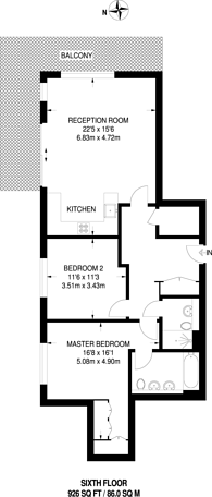Large floorplan for Saundby Lane, Kidbrooke, SE3