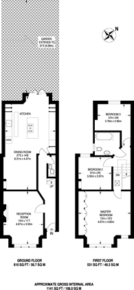 Large floorplan for Huntly Road, South Norwood, SE25