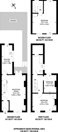 Large floorplan for Cropley Street, Islington, N1
