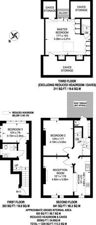 Large floorplan for Cardozo Road, Islington, N7