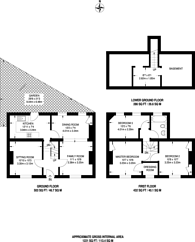 Large floorplan for Walcot Square, Kennington, Kennington, SE11