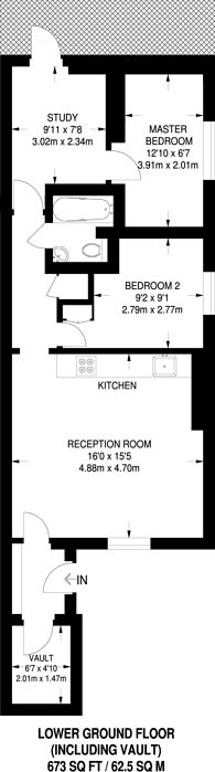 Large floorplan for Gunter Grove, Chelsea, SW10