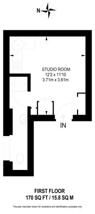 Large floorplan for Queens Gate Gardens, South Kensington, SW7