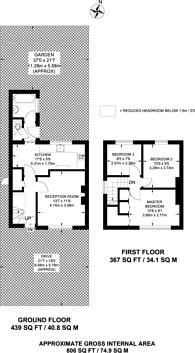 Large floorplan for Wrenthrope Road, Bromley, BR1