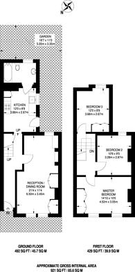 Large floorplan for Elsley Road, Shaftesbury Estate, SW11