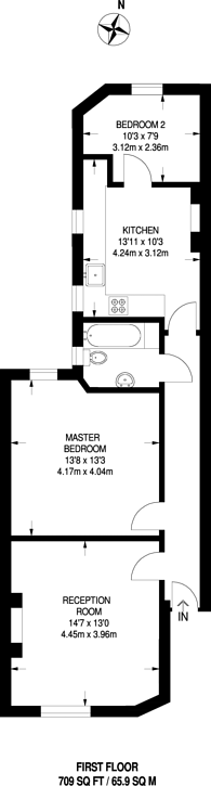 Large floorplan for Delaware Road, Maida Vale, W9