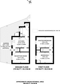 Large floorplan for Stanley Cottage, Greenwich, SE10