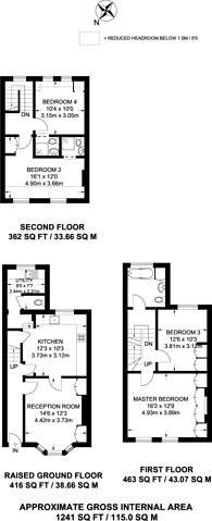 Large floorplan for Halford Road, Fulham Broadway, SW6