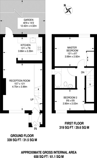 Large floorplan for Barton Close, Beckton, E6