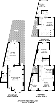 Large floorplan for Festing Road, West Putney, SW15