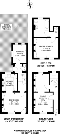 Large floorplan for St Marys Gardens, Kennington, Kennington, SE11