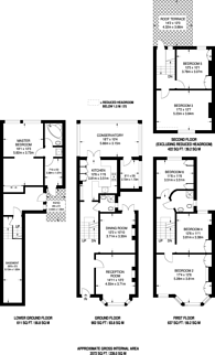 Large floorplan for Stockwell Park Road, Stockwell, SW9