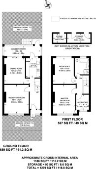 Large floorplan for Torrington Gardens, Bounds Green, N11