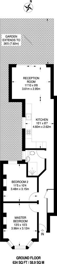 Large floorplan for Whateley Road, East Dulwich, SE22