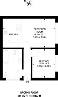 Large floorplan for Burnt Ash Lane, Sundridge Park, BR1
