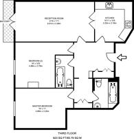 Large floorplan for Wimbledon Central, Wimbledon, SW19