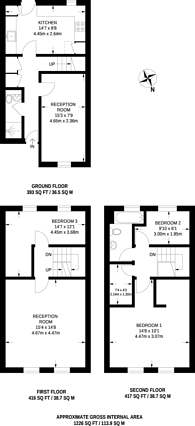 Large floorplan for Albany Court, Epping, CM16