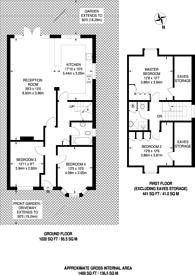 Large floorplan for Mead Way, Burpham, GU4
