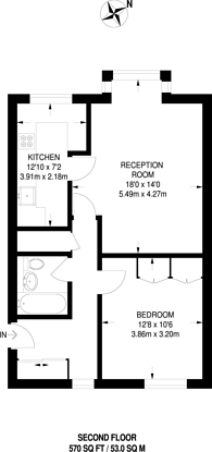 Large floorplan for Kirk Rise, Sutton, SM1