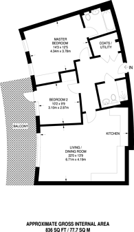 Large floorplan for Stanmore Place, Stanmore, HA7
