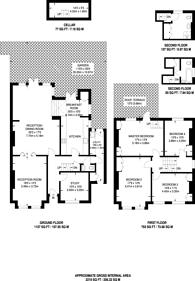 Large floorplan for Benson Road, Forest Hill, SE23