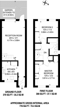 Large floorplan for Hewison Street, Bow, E3