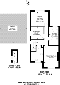 Large floorplan for Tudor Court, Mitcham, CR4
