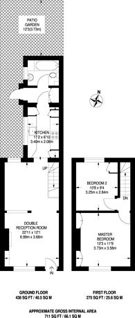 Large floorplan for Albany Road, Brentford, TW8