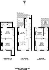 Large floorplan for Kelly Street, Kentish Town, NW1