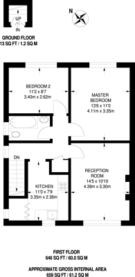 Large floorplan for Sunnyhurst Close, Sutton Common, SM1