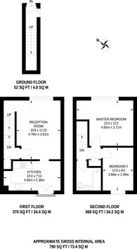 Large floorplan for Tankerville Road, Streatham Common, SW16