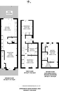 Large floorplan for Sandringham Road, Willesden, NW2