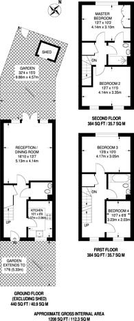 Large floorplan for Miles Road, Mitcham, CR4