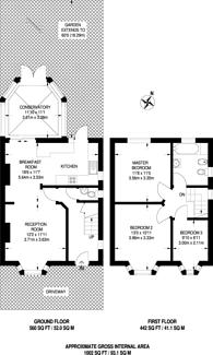 Large floorplan for The Fairway, South Ruislip, HA4