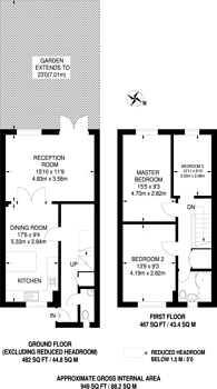 Large floorplan for Roxbourne Close, Northolt, UB5
