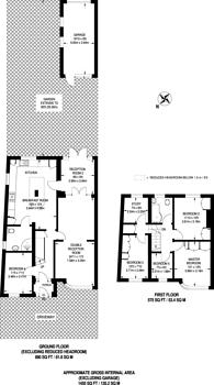Large floorplan for Leamington Crescent, Rayners Lane, HA2