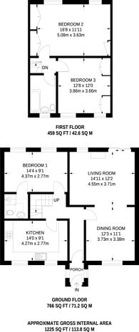 Large floorplan for Manor Road, High Barnet, EN5