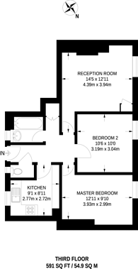 Large floorplan for Mawbey House, Old Kent Road, South Bermondsey, SE1