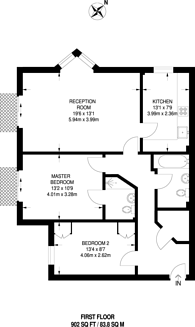 Large floorplan for Surrey Quays, Canada Water, SE16