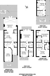 Large floorplan for Trinity Church Road, Barnes, SW13