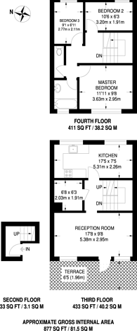 Large floorplan for Bedwell House, Stockwell, SW9