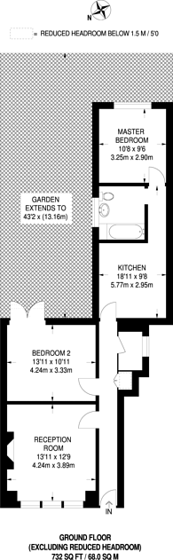 Large floorplan for Ash Grove, Cricklewood, NW2