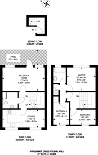 Large floorplan for Bedwell House, Brixton, SW9