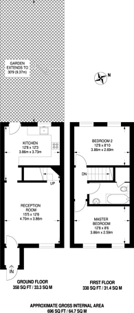Large floorplan for Jersey Road, Canning Town, E16