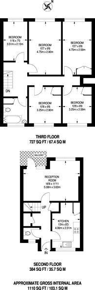 Large floorplan for Milton Garden, Stoke Newington, N16